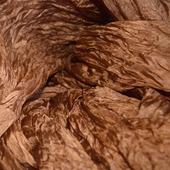 Шелковый шарф светло-коричневый длинный
