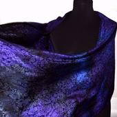 Шарф палантин фиолетово-синий