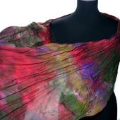 Шарф женский шелковый разноцветный крепдешиновый