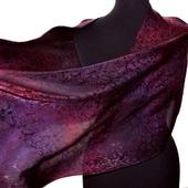 Женский шарф бордово-фиолетовый жаккард