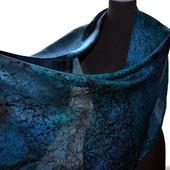 Женский шарф темно-синий