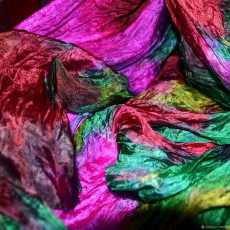 Шарф женский шелковый яркий ручной работы на заказ