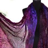 Шарф женский бордово-фиолетовый