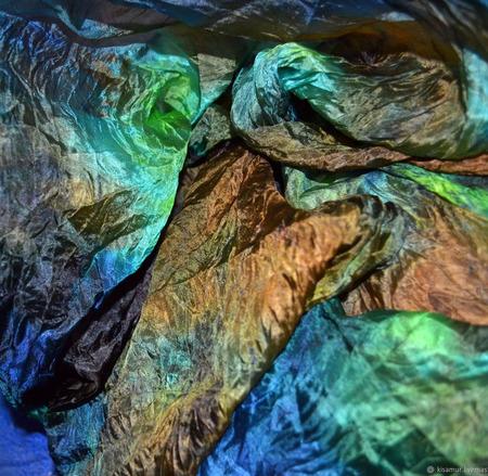 Шарф палантин женский шелковый разноцветный ручной работы на заказ