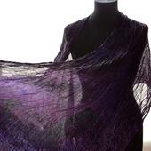 Палантин шелковый женский темно-бордово-фиолетовый