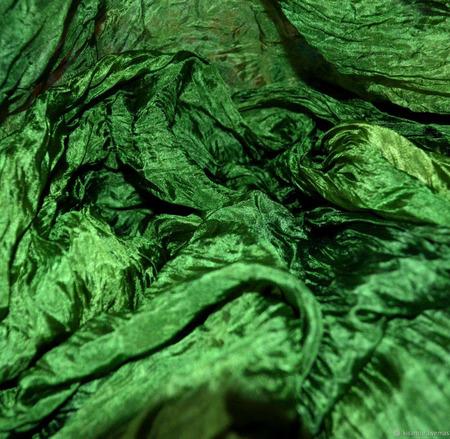 Шелковый шарф женский зелёный ручной работы на заказ