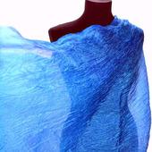 Шарф светло-синий васильковый