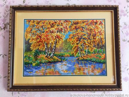 """Картина """"Золотая осень"""" ручной работы на заказ"""