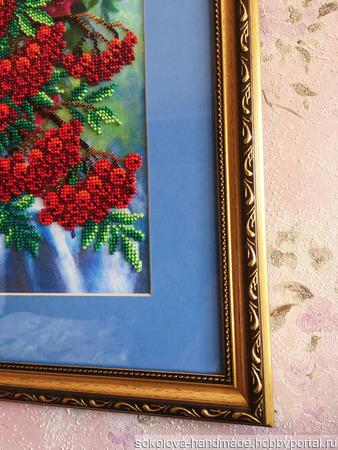 """Картина """"Рябина в корзинке"""" ручной работы на заказ"""