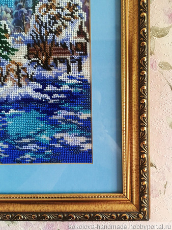 Картина «Зимний пейзаж» ручной работы на заказ