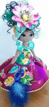 "Интерьерная кукла ""Наоми"" ручной работы на заказ"