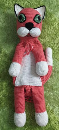 """Игрушка-пижамница """"Розовый котя"""" ручной работы на заказ"""