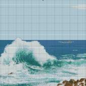 """Схема для вышивания крестиком """"Волна"""""""