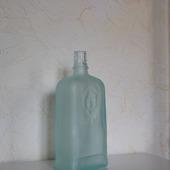 Бутылка матовое зелено-голубое стекло