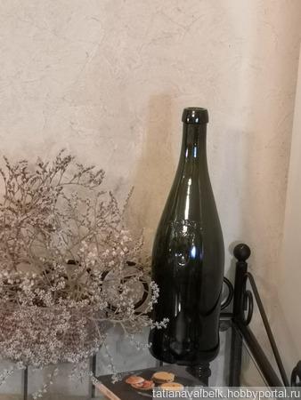 Бутылка стеклянная оливковая TOSTI 1820 ручной работы на заказ