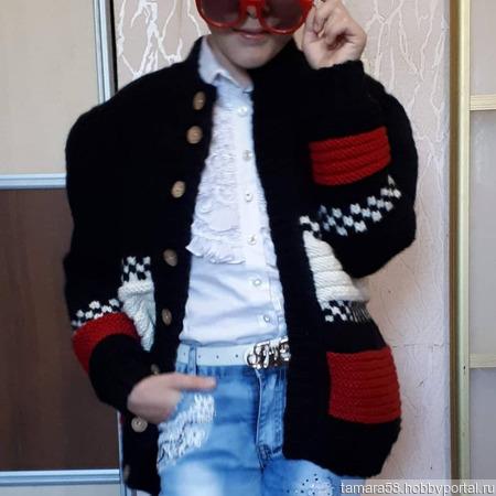 Детская курточка связанная спицами ручной работы на заказ