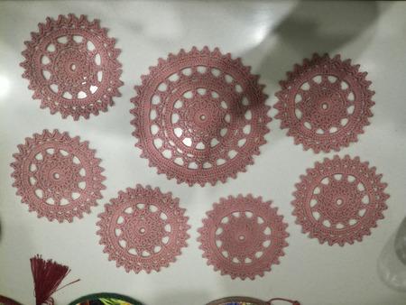 Набор вязаных салфеток ручной работы на заказ