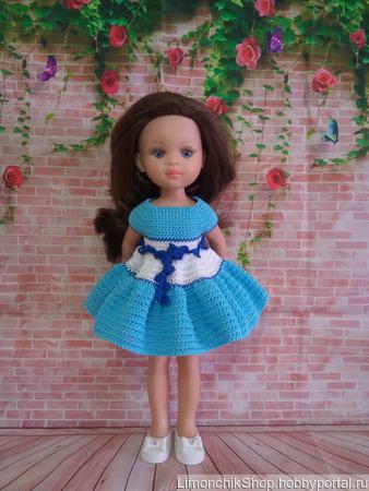Морское платье для Паола Рейна ручной работы на заказ