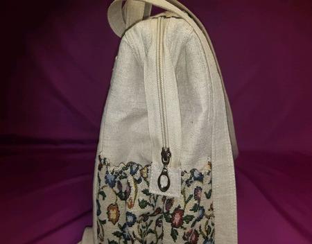 Рюкзак льняной ручной работы на заказ
