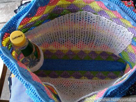 Пляжная сумка «Волшебные ромбы» ручной работы на заказ