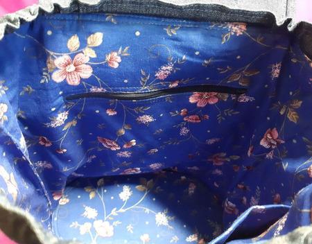 Рюкзак джинсовый ручной работы на заказ