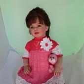"""Платье ажурное из хлопка """"Цветочная клумба"""""""