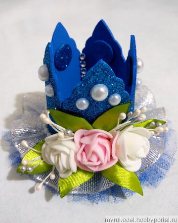 Корона синяя ручной работы на заказ