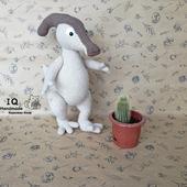 Вязаная игрушка Динозавр Паразауролоф