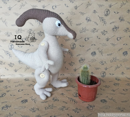 Вязаная игрушка Динозавр Паразауролоф ручной работы на заказ