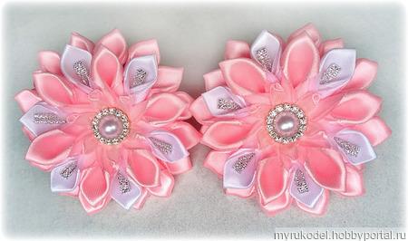 Бантики розовые ручной работы на заказ