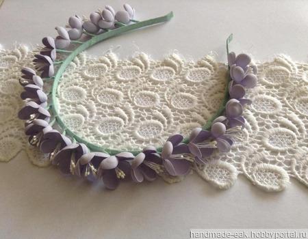 Ободок с мелкими цветами ручной работы на заказ