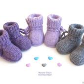 Пинетки из альпаки для новорожденных