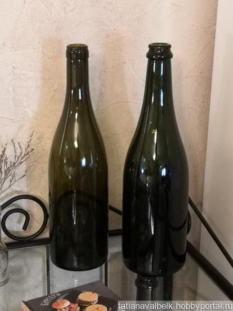 Бутылки оливковые винно-шампанские в ассортименте ручной работы на заказ