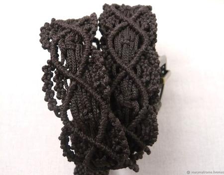 """Пояс макраме """"Волна"""" плетеный ручной работы на заказ"""