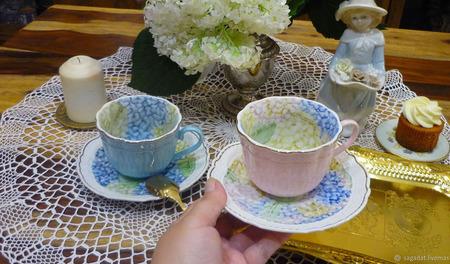 """Чайные пары """"Французские гортензии"""" ручной работы на заказ"""