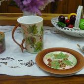 "Кружка и тарелка ""Летняя усадьба"""