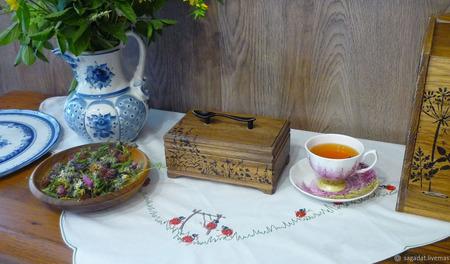 """Чайная шкатулка """"Разнотравье"""" ручной работы на заказ"""