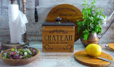 """Большой короб для любых сыпучих """"Французские шато"""" ручной работы на заказ"""