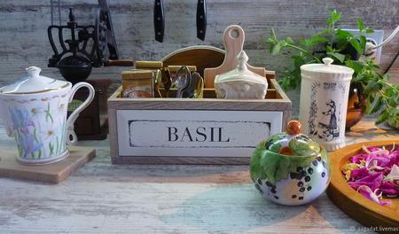 """Короб для чая, специй и не только """"Где-то там Прованс"""" ручной работы на заказ"""
