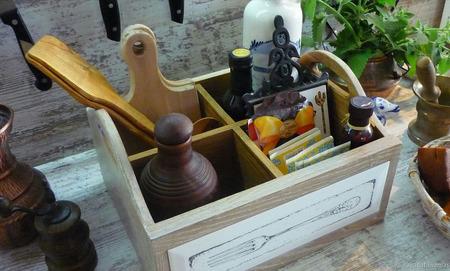 """Большой органайзер для кухни """"Где-то там Прованс"""" ручной работы на заказ"""