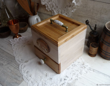 """Чайный комодик """"Рожь на меду"""" ручной работы на заказ"""