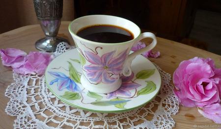 """Чайная (кофейная) пара """"Утро нового дня"""" ручной работы на заказ"""