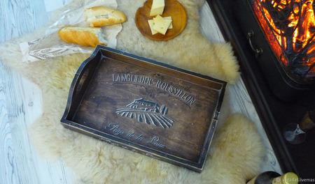 """Большой поднос из кедра """"Languedoc-Roussillon"""" ручной работы на заказ"""