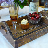 """Поднос из кедра """"Винный вкус Франции"""""""
