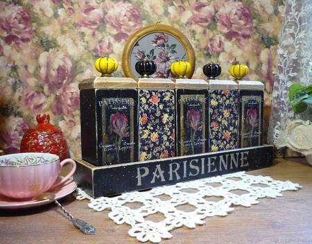 """Большой набор для трав, чая, специй """"Вечер в Париже"""" ручной работы на заказ"""