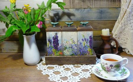 """Набор для чая, кофе, трав """"ЗаМКАДье"""" ручной работы на заказ"""
