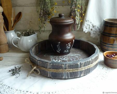 """Набор керамической посуды """"За околицей"""" ручной работы на заказ"""
