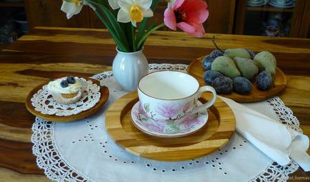 """Большая чайная, бульонная пара """"В старом парке"""" ручной работы на заказ"""