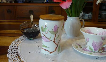 """Баночка для чая, трав, кофе """"В краю магнолий"""" ручной работы на заказ"""