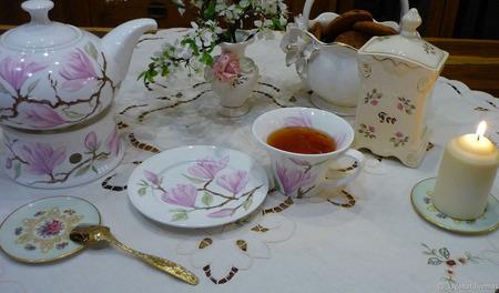"Чайная пара ""Английский сад"" ручной работы на заказ"